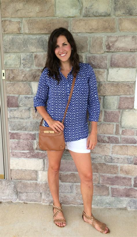 What I Wore Real Mom Style Breezy Summer Shirts