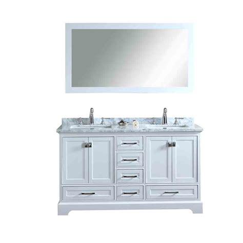 Bathroom Vanities 60 Sink by Stufurhome Newport White 60 Quot Sink Bathroom Vanity