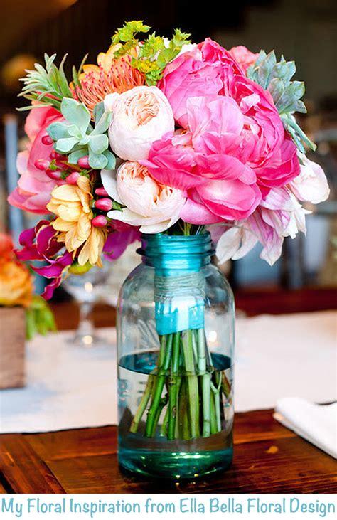 flowers in jars diy vintage blue mason jars the little gsp
