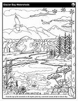 Coloring Sheets Pages Glacier Watershed Sheet Streams Mountains Salmon Nps Bay Park National Printable Eagles Getdrawings Service Getcolorings Kidsyouth Glba sketch template