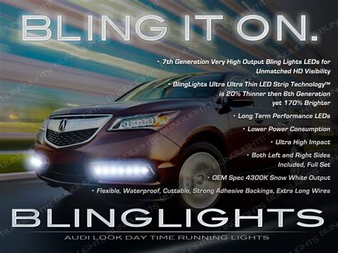 acura mdx led drl light strips for headls headlights