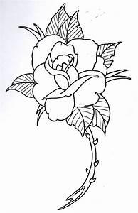 Rose Outline 4 by vikingtattoo on DeviantArt