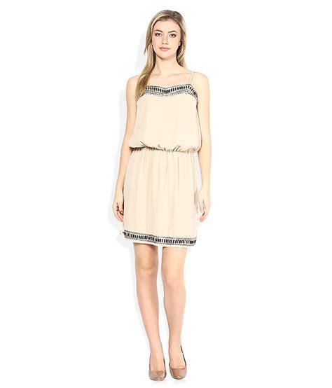 109 f beige round neck dresses buy 109 f beige round