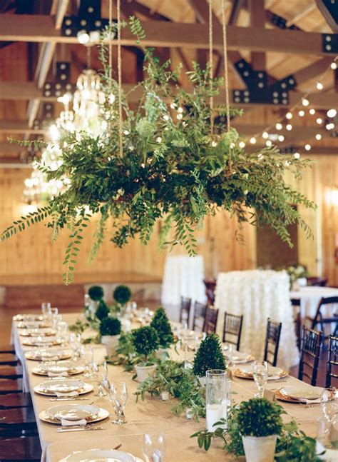 natural whimsical white  green outdoor wedding