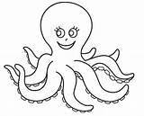 Octopus Coloring Printable Preschool Pages Animals Mask Worksheets Kindergarten sketch template