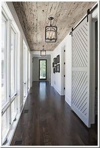Hallways barn door entry and hallway pinterest for Barn door for hallway