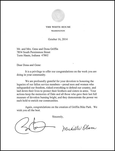 how to write a letter to the president 3 write a letter of support griffin bike park how t