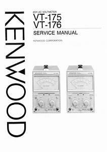 Kenwood Vt-175 Service Manual