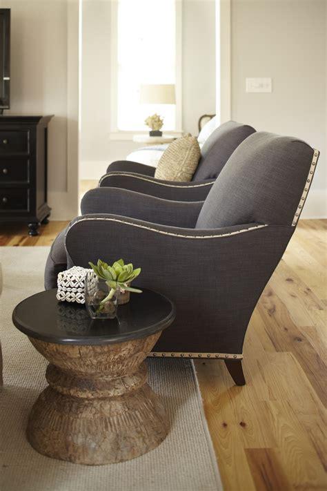 wesley hall chairs  gimp trim nailheads  graphite