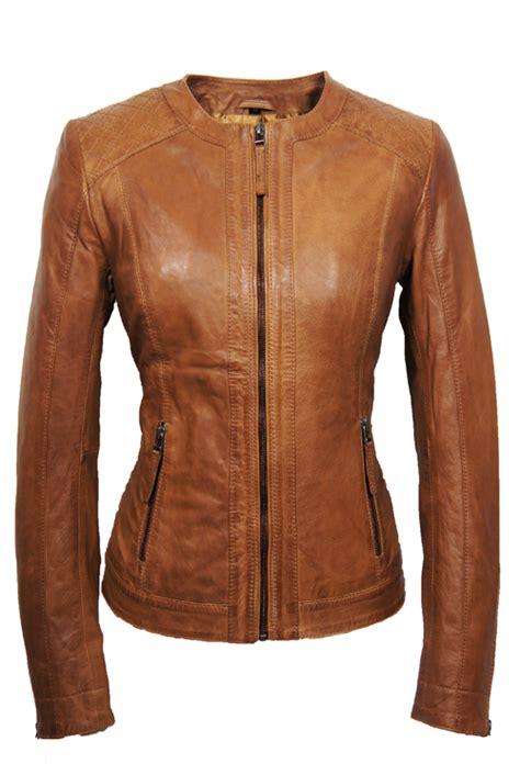 leather palace leren jas dames cognac