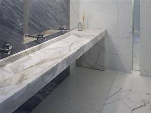 vasque design pour les salles de bains modernes 35 modeles With salle de bain design avec evier en marbre