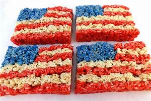 4th of July Rice Krispie Treats - Two Sisters