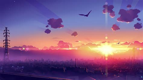You will definitely choose from a huge number of pictures that option that will suit. 1920x1080 Anime Scenery Sunset 4k Laptop Full HD 1080P HD 4k Wallpapers, Images, Backgrounds ...