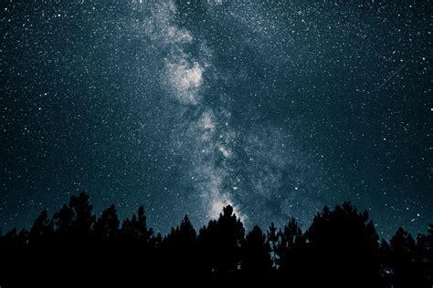 Wallpaper Starry Sky Milky Way Stars Night Hd