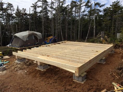 How To Frame A Floor by How To Build A Rock Solid Low Cost Grid Cabin Foundation