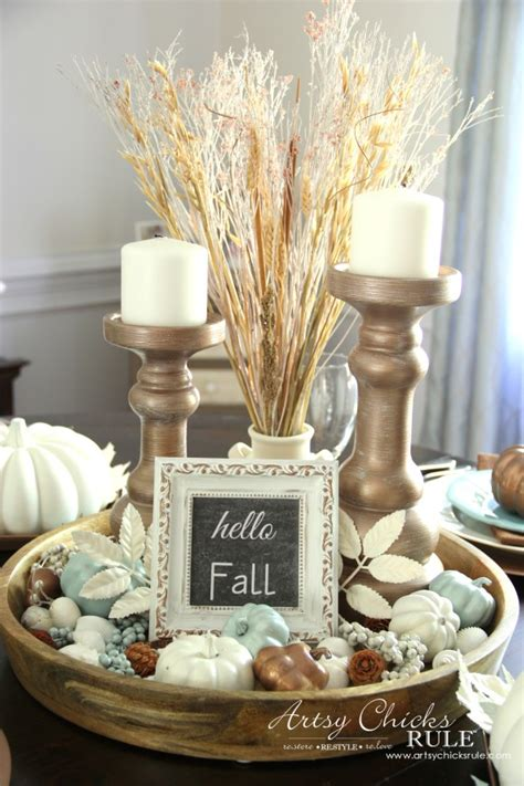 the appropriateness of dining room table centerpieces coastal casual fall tablescape on a budget artsy