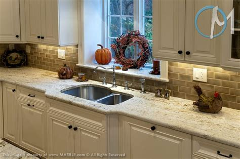 colonial gold granite is used here with a bowl