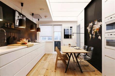 cuisine en longueur déco cuisine en longueur exemples d 39 aménagements