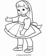 Coloring Doll sketch template