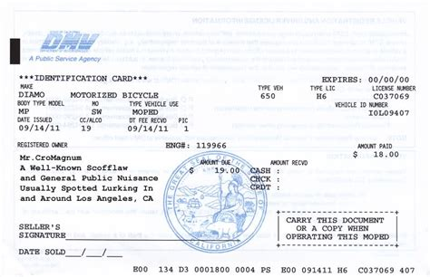 california dmv   state motorcycle registration