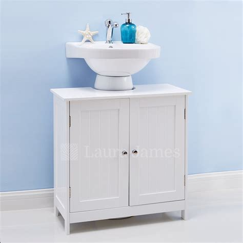 40 Under Cabinet Storage Bathroom, White Wooden Under Sink