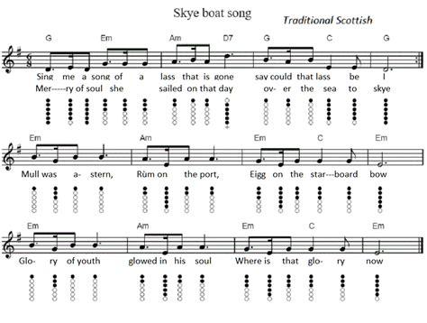 Skye Boat Song Corries by The Skye Boat Song Tin Whistle Sheet Music Irish Folk Songs