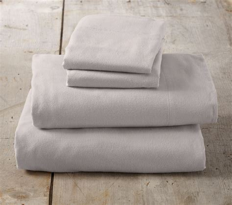 nordic collection 100 cotton flannel sheet set in solid