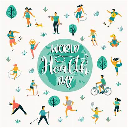 Healthy Lifestyle Active Leading Health Vector Illustration