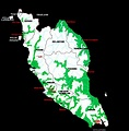 A map of Peninsular Malaysia showing distribution of its ...