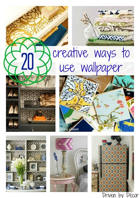 Decorating Ideas Leftover Wallpaper Border by 20creativewaystousewallpapercollagewmbottomjpg