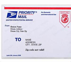 5 free shipping label templates excel pdf formats With how to print priority mail labels