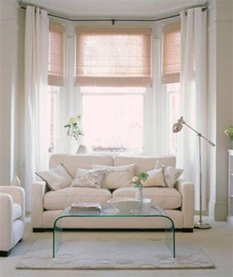 living room curtain ideas for bay windows in white in a living room living room