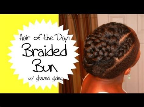 braided updo  shaved sides  natural hair hotd