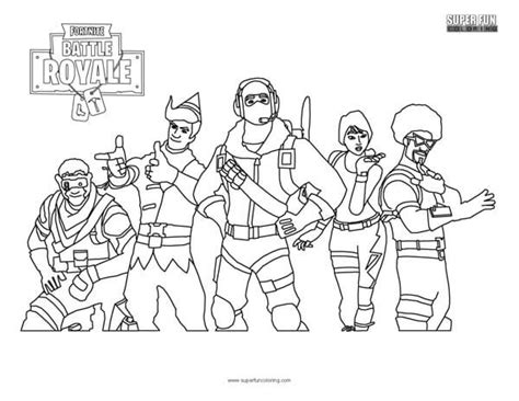 Fortnite Skins Coloring Pages Printable