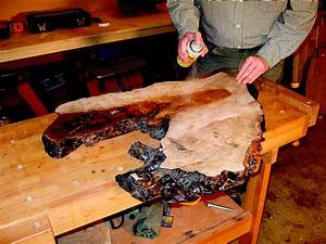 The Challenge of Finishing a Wood Slab - Woodworking