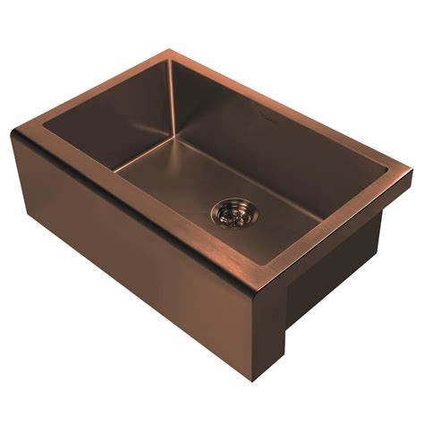 copper sink with stainless steel appliances whitehaus collection noah plus all in one apron front 30