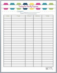 Free Printable Monthly Expense Sheet