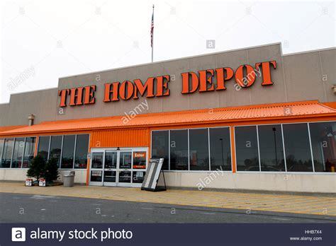 l home depot home depot and parking lot in front of it stock