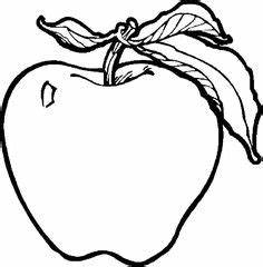 Apple Fruit Clipart Black And White - ClipartXtras