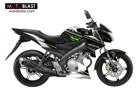modif striping new vixion edition black and white version motoblast