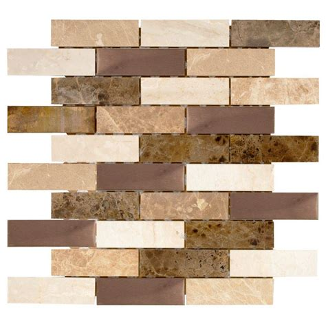 tile home depot jeffrey court tundra grey 2 x 4 beveled 12 in x 12 in x