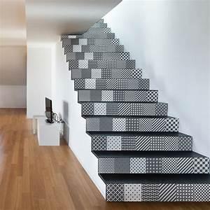 Escalier Carreaux De Ciment : stickers escalier carreaux de ciment svein x 2 ambiance ~ Dailycaller-alerts.com Idées de Décoration