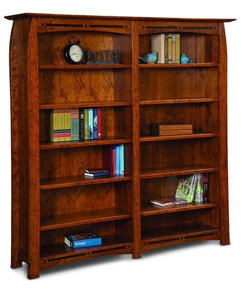 Boulder Creek Double Bookcase  Amish Direct Furniture