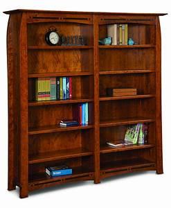 Boulder Creek Double Bookcase - Amish Direct Furniture