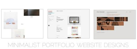 Minimalist Portfolio Website Designs For Inspiration