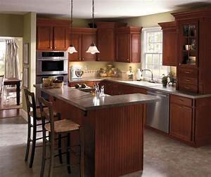 dark cherry kitchen cabinets aristokraft cabinetry With what kind of paint to use on kitchen cabinets for modern floor candle holders
