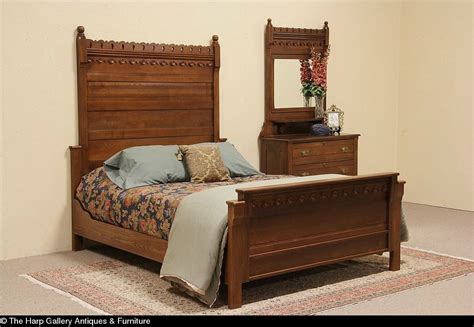 Antique Oak Bedroom Furniture Antique Oak Queen Size