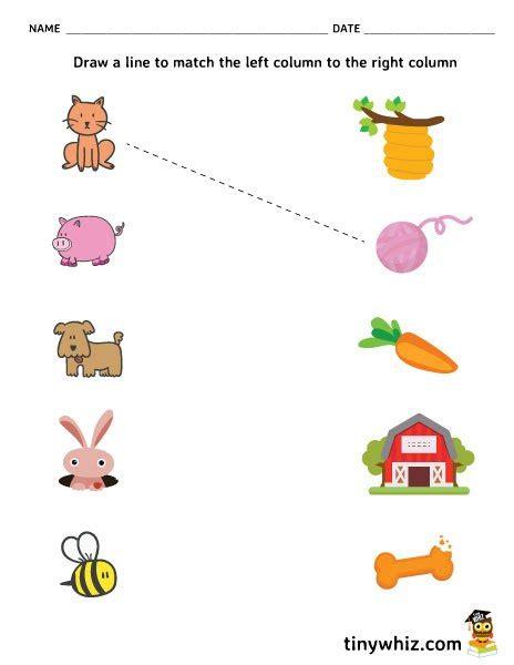 matching activities for preschoolers printables free printable matching worksheet for preschool tiny whiz 798