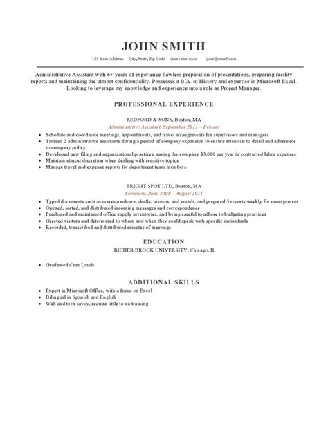 combined format resume sle resume combination format