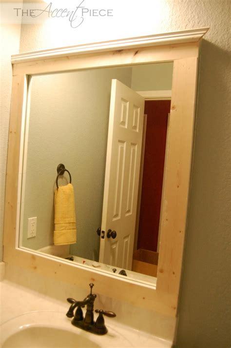Framing An Existing Bathroom Mirror by Diy Framed Bathroom Mirror The Accent